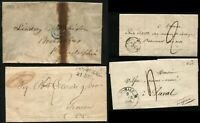 Antique STAMPLESS Postage Letter Collection Cover Cancellation