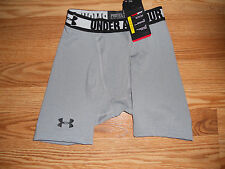 *Nwt Men's Small Under Armour HeatGear Compression Shorts Gray 1236237