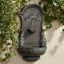 """Outdoor Wall Water Fountain 33"""" 2 Tiered Ornate for Yard Garden Patio Deck Home"""