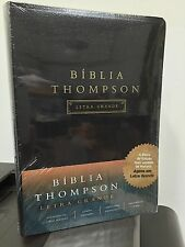 Portuguese Thompson Chain Reference Bible,LARGE PRINT Black Imi Leather  f/s