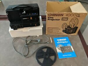 Chinon 4000GL Cine Projector- Cord, Bulb and Instruction Manual box Vintage