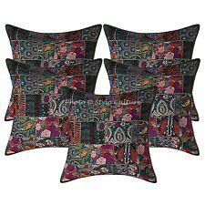 Bohemian Home Decorative Cushion Covers Large 60 x 60 cm Patchwork Cotton 5 Pc