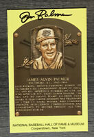 Jim Palmer Autographed Signed Hall Of Fame Post Card Baltimore Orioles W/Coa