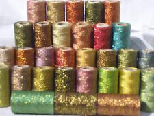 30 Metallic Thread Spools,30 different Colour, 300 YARDS EACH