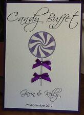Fait à la main personnalisée candy buffet sucré traite signe de table-plusieurs couleurs