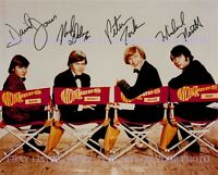 THE MONKEES SIGNED AUTOGRAPH 8x10 RP PHOTO ALL 4 DAVY JONES TORK DOLENZ NESMITH