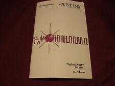 Motorola Astro Digital SABER Model 1 User's Guide, Manual
