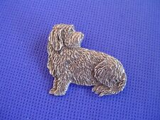 Petit Basset Griffon Vendeen Pin Sit #91G Pewter dog Jewelry by Cindy A. Conter