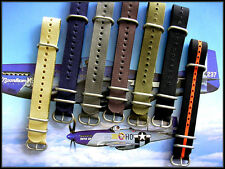 22mm Brown NATO G10 UTC military dive strap Nylon watch band IW SUISSE 18 20 24