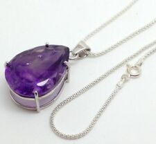 "18 - 19.99"" Not Enhanced Amethyst Fine Necklaces & Pendants"