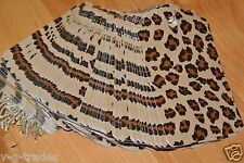 Lot 200 Large Leopard Brown Print Paper Merchandise Price Tags With String