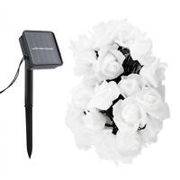 30LED Solar Power Rose Flower String Fairy Light Romantic Wedding Bedroom Decor
