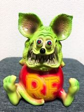 Rat fink Ed Roth Figure Pottery Statue Limited RARE Green doll Hot Rod