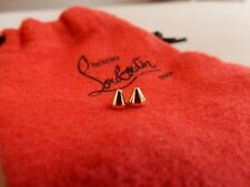 New CHRISTIAN LOUBOUTIN MINI GOLD REPLACEMENT SPIKES STUDS SHOE REPAIR Set of 2