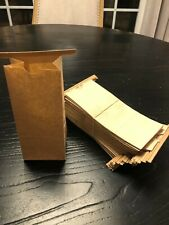 50 Count New Resealable Kraft 1/2 LB Paper Bags Stand Up Coffee Food Packaging