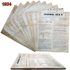 1934 LE JOURNAL DES 8 n°501 a 509 + 511 & 518  Radio amateurs  TSF HAM OC