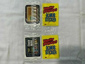 2004 Topps Wacky Packages ANS1 B2 Coach Motel Bonus Sticker in Cello + MORE