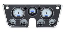 67-72 Chevy Truck C10 Dakota Digital Silver Alloy & Blue VHX Analog Gauge Kit