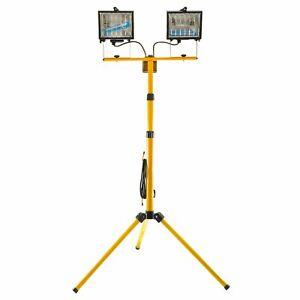 400wTwin Halogen Bulb Site Floodlight Lamp Telescopic Tripod Stand Light GAR71