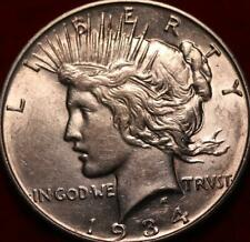 Uncirculated 1934-D Denver Mint Silver Peace Dollar