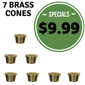 Bonza Cone Pieces Brass cones metal smoking pipe brass pipe Stem grommet
