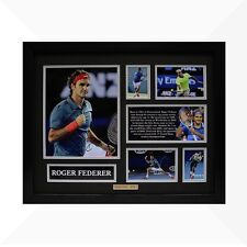 Roger Federer Signed & Framed Memorabilia - Black/Silver Limited Edition