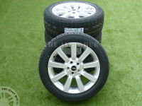 """GENUINE RANGE ROVER VOGUE L322 SUPERCHARGED SILVER 20""""INCH ALLOY WHEELS+TYRES X4"""