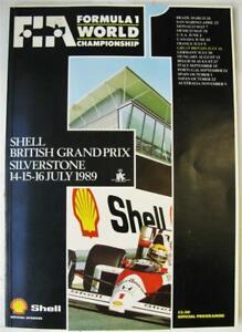 SILVERSTONE 14/15/16 Jul 1989 LF Formula 1 Official Programme + Race Card