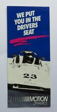 c. 1990 Motion Dynamics Racing Brochure Vintage Original