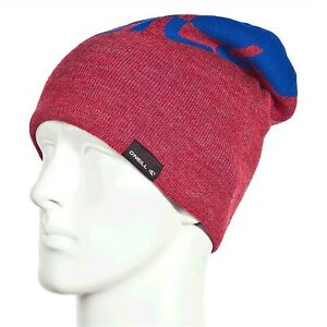 O'Neill Davos Beanie, One Size Fits Most, Society Red / Bright Blue New
