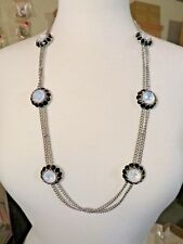 NEW TALBOTS OPAQUE RESIN OPAL NECKLACE 30-33""