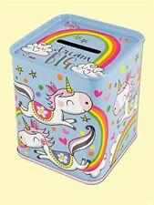 Rachel Ellen Sueño Grande Unicornio dinero Banco de Dinero de Estaño Regalo Niños Niñas Cumpleaños Divertido