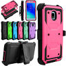 For Samsung Galaxy J3 Orbit  /Achieve /Star 2018 Case Hybrid Holster Armor Cover
