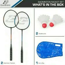EastPoint Sports 2-Player Badminton Racket Set Blue & Red Rackets