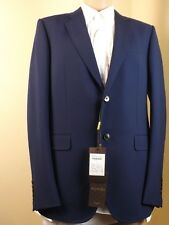 NWT GUCCI URBAN BLUE WOOL MOHAIR TWO BUTTON SUIT EUR 52 Long / US 42 #234096