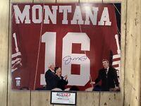 Joe Montana Autographed/Signed 16x20 Photo COA San Francisco 49ers