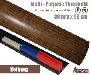 Kolburg Oak Laminate Door Threshold Strip 38mm x 0.90mtr Multi-Height and Pivot