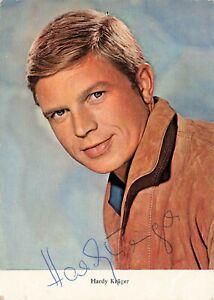 Autogrammkarte - Hardy Krüger (60er Jahre) Schauspieler orig. signiert - A1215