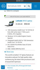 Dell Latitude 3400 14in. (320Gb, 2.4Ghz, 8Gb) Notebook/Laptop - Black Gray -.