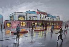 Pete Rumney (Pete The Painter) Original Painting - Where Lowry Stayed