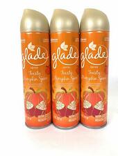 Glade Air Freshener Spray - Toasty Pumpkin Spice - Pack of 3 Cans