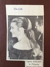 H1b Ephemera 1968 Picture Princess Grace Monte Carlo The Adventurer
