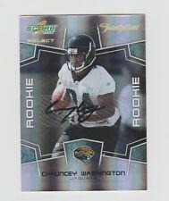 Chauncey Washington Jaguars 2008 Score Select Rookie Inscriptions #423 744/750