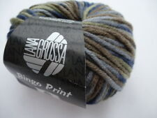 Bingo print 50g Classics made out of Merino Wool Colour 357 blue green brown