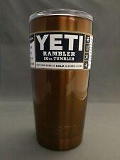 Genuine Yeti Rambler 20 ounce powder coated TRANSLUCENT CANDY ORANGE