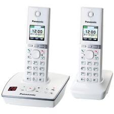 Panasonic KX-TG8062GW Weiss-Klavierlackoptik DECT Schnurlos-Telefon 2 Mobilteil