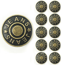 """10pcs/lot """"JEANS"""" text patten jeans button,buttons for jeans,bronze color,17mm"""