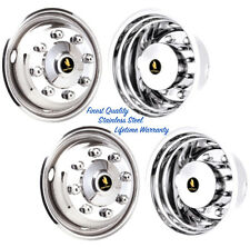 "19.5"" FREIGHTLINER MT45 8 LUG 4 HOLE WHEEL SIMULATOR RIM LINER HUBCAP COVERS ©"