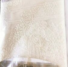 """Les Fleurs Ivory 60"""" x 63"""" Window Panel Heritage Lace Curtain French Country"""