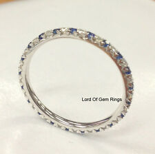 French V Sapphire Wedding Band!Diamond Engagement Ring,White Gold,Anniversary 5#